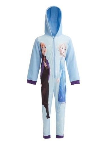DeFacto Kız Çocuk Frozen 2 Lisanslı Tulum Pijama Mavi